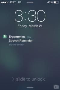 Push notification example.